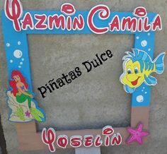 """Marcos para fiestas infantiles """"La Sirenita"""""""