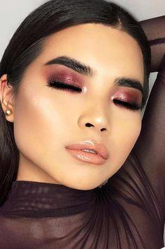 Eye-Makeup that looks beautiful! asian eye makeup, eye makeup tips Asian Makeup Looks, Asian Eye Makeup, Eye Makeup Tips, Smokey Eye Makeup, Beauty Makeup, Makeup Ideas, Asian Smokey Eye, Makeup Lips, Makeup Primer