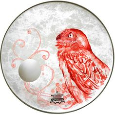 Paintings on drumskins. Aimée recently started selling a selection of her illustrated drumskins (Like this owl) through Mammoth & Company
