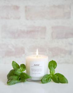 basil candle
