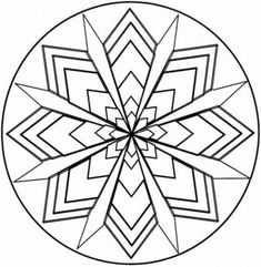 Symmetry Coloring Design | Kaleidoscope Coloring Pages
