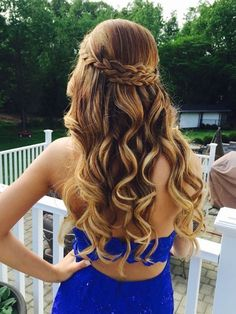 See more ideas about long hair styles braided hairstyles and short hair styles. Down hairstyles complement strapless dresses best. 31 Half Up Half Down Prom Hairstyles Hair Styles Long Prom Dance Hairstyles, 2015 Hairstyles, Night Hairstyles, Braided Hairstyles, Trendy Hairstyles, Teenage Hairstyles, Beautiful Hairstyles, Long Haircuts, Sweet 16 Hairstyles
