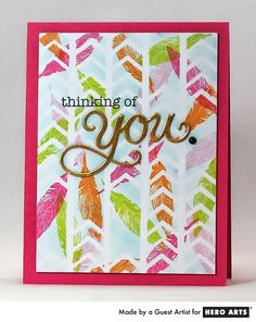 Clever card by Isha with stencils! Scrapbook Paper Crafts, Scrapbooking Ideas, Card Making Inspiration, Design Inspiration, Art N Craft, Card Making Techniques, Card Maker, Hero Arts, Card Tags