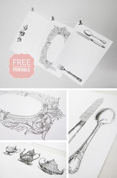 Free Vintage paper placemats downloads
