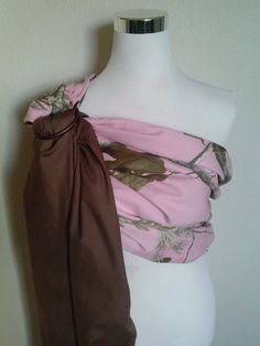 Pink Camouflage Real Tree AP Baby Ring Sling / Baby Carrier
