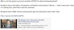 Tom Woods' Western Civ I course -- part of the Ron Paul Curriculum