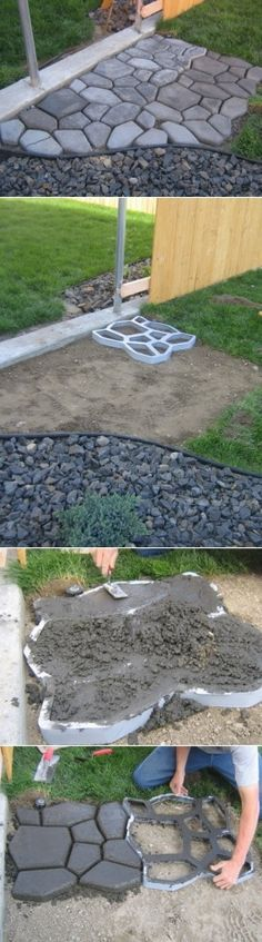 DIY Cobble Stone Path