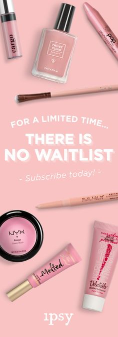 Love trying new products? Join ipsy! For just $10/month you get 5 best-selling, cult fave products handpicked just for you, plus hot beauty tips and tricks from our pros and exclusive access to monthly giveaways! Subscribe now!