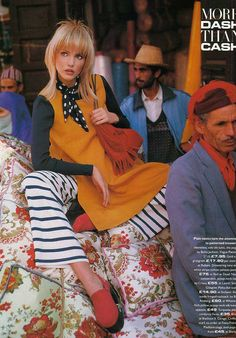 ☆ Nadja Auermann | Photography by Mario Testino | For Vogue Magazine UK | March 1993 ☆
