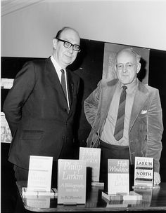 From the English and Drama blog post 'Required Blogging: The Philip Larkin Collection in the British Library'. Image: Philip Larkin and Barry Bloomfield.  With permission of Hull University Archive, Hull History Centre. Authors, Writers, Philip Larkin, English Poets, Medieval Manuscript, British Library, Centre, Blogging