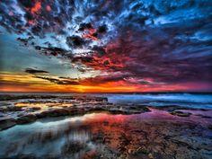 the splash of colors