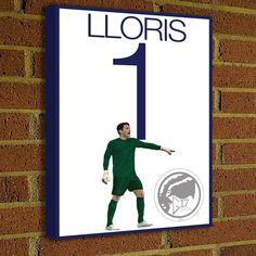 Hugo Lloris Canvas Print  Tottenham Hotspur F.C. - Pick Your Size, poster, art, wall decor, spurs, premier league by Graphics17 on Etsy