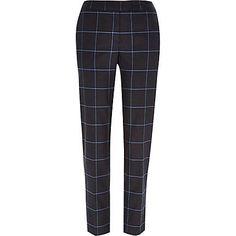 Grey check cigarette pants £40.00 #riverisland #bloggerstyle