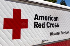 American Red Cross Disaster Services Vehicle and Logo. ARCADIA, CA/USA - APRIL 1 , #spon, #Services, #Vehicle, #Logo, #Disaster,