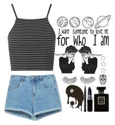 """""""(*0*)"""" by trocoolhakunamatata ❤ liked on Polyvore featuring Topshop, Zara, Bobbi Brown Cosmetics and Chanel"""