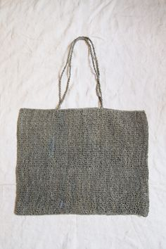 Sophie Digard - Raphia Tote Bag Gray Hand made in Madagascar / 15x18 Inch / available in: Gray