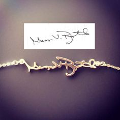Signature Necklace/ Personal necklace/ Name by MackenzieTreasury, $37.00