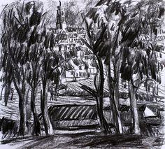 Paisaje 62-2003 Fuente Obejuna Dibujo Original por PINACOTHECULA