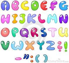 Bubble letters by Yael Weiss, via Dreamstime