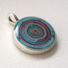 paper wrapped sprial pendant - robayre | Flickr - Photo Sharing!, inspiration,