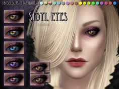 Sibyl Eyes by RemusSirion at TSR via Sims 4 Updates
