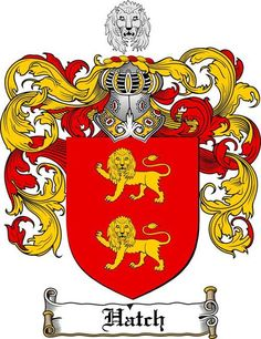HATCH FAMILY CREST - COAT OF ARMS gifts at www.4crests.com