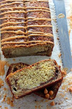 Brown Sugar Cinnamon Swirl Butterscotch Banana Bread