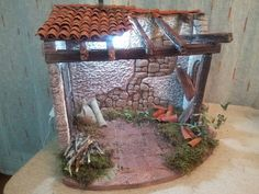 17 Best images about pesebres on Nativity House, Diy Nativity, Christmas Manger, Christmas Nativity Scene, Nativity Scenes, Handmade Christmas, Christmas Crafts, Roof Styles, Miniature Crafts
