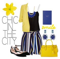 Summer Yellow by katrina259 on Polyvore featuring polyvore, fashion, style, T By Alexander Wang, River Island, New Look, Gianvito Rossi, MICHAEL Michael Kors, Oscar de la Renta, INC International Concepts, Smythson and clothing