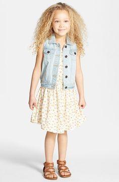 Tucker + Tate Lace & Denim Vest (Toddler Girls, Little Girls & Big Girls) available at #Nordstrom