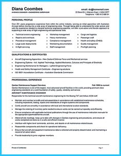 aircraft maintenance technician resume sample when you want to seek a job in aircraft industry you need to have some years of experience in this field - Maintenance Mechanic Resume