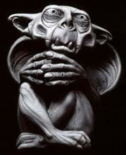 The Keeper is my very favorite gargoyle.  He listens to all of your thoughts and dreams and keeps them safe for you.