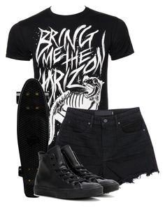 """antivist//bring me the horizon"" by bands-are-my-savior ❤ liked on Polyvore featuring T By Alexander Wang and Converse"