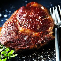 Ribeye Steak with Mushrooms and Red Wine Sauce