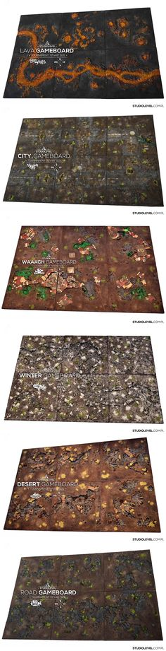 "STUIOLEVEL GAMEBOARDS size 72""x48"""