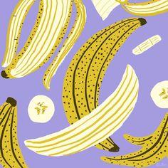 Art And Illustration, Food Illustrations, Character Illustration, Banana Art, Fruit Art, Arte Pop, Types Of Art, Map Art, Doodle Art