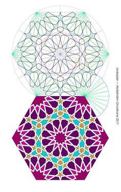 12+15 Motifs Islamiques, Islamic Motifs, Islamic Art Pattern, Arabic Pattern, Geometry Pattern, Geometry Art, Pattern Art, Arabesque, Geometric Drawing