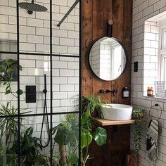 bohemian Bathroom Decor Trendy Bohemian Bathroom D - bathroomdecor Bad Inspiration, Bathroom Inspiration, Bathroom Inspo, Small Bathroom Ideas, Interior Inspiration, Bathroom Interior Design, Interior Decorating, Flat Interior Design, New Bathroom Designs