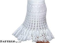 Lace Crochet Skirt...    Falda de Encaje a crochet...