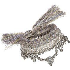 Alyssa Norton  Vintage Rhinestone & Silk Bracelet