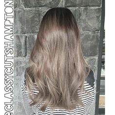 """""""Next we have a refreshed smokey dark ash blonde for our lovely client Shirley! No bleach was used! Gorgeous  styled Using @cloudnineoz waving wand …"""""""