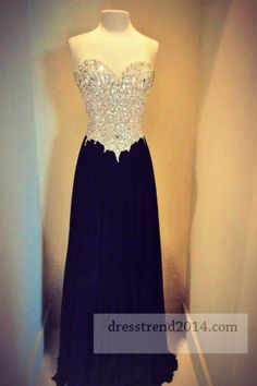 Long Black Sequin Strapless Prom Dresses Sale