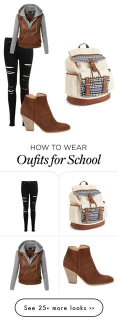 """school"" by sassy-rice on Polyvore"