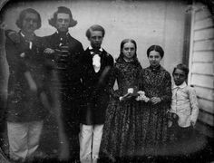 "chubachus: "" Daguerreotype portrait of a group of unidentified young men and children, American, c. 1848. """
