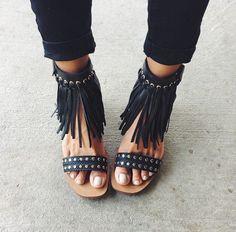fringed heels sandals