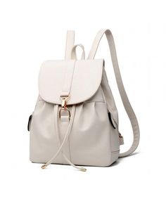 Buy Womens & Girls PU Leather Backpack Purse Fashion Casual Shoulder Bag - Beige 3 - and find your ideal Women Backpacks at affordable prices and fast shipping. Fashion Handbags, Purses And Handbags, Fashion Bags, Leather Handbags, Fashion Backpack, Fashion Models, Fashion Women, Fashion Jewelry, Leather Backpack Purse