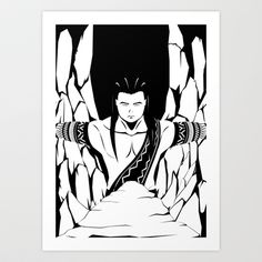 Bernardo Carpio Art Print by Kendrick Salting -    Artist's note: Artwork for a fan-fiction that I made based on Trese Comics by Budjette Tan and Kajo Baldisimo.     This one features Bernardo Carpio from Philippine Mythology who is known to cause earthquakes. (Wikipedia)