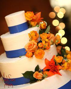Blue And Orange Wedding Cakes   Wedding Cakes   Pinterest   Wedding ...