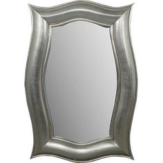 Silver Mirror Hollywood Style Modern Chic Lines New Free shipping