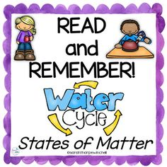 These nonfiction water cycle task cards are short nonfiction reading passages about the states of matter and the water cycle. Students can read these small passages independently or in a small group. They are perfect for paired reading or Water Cycle Activities, Learning Activities, Teacher Resources, Teacher Pay Teachers, States Of Matter, Reading Passages, Group Work, Teachers' Day, Task Cards
